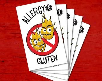Tattoos for children allergic to GLUTEN.