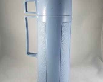 Vintage Insulated Thermos  |  Blue Thermos  |  Made in Canada   |  Thermos Filler 22F  |  Stopper R722  |  Cup 22A63  |   Cornflower Blue