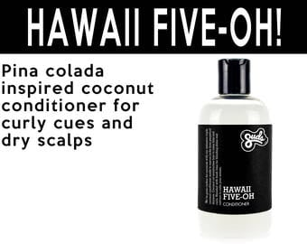 Hawaii Five-Oh Conditioner. Fair Trade Organic Vegan Cruelty-Free Cosmetics. 5% of Proceeds Proudly Go To Grassroots Charities