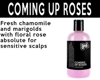 Coming Up Roses Conditioner. Fair Trade Organic Vegan Cruelty-Free Cosmetics. 5% of Proceeds Proudly Go To Grassroots Charities