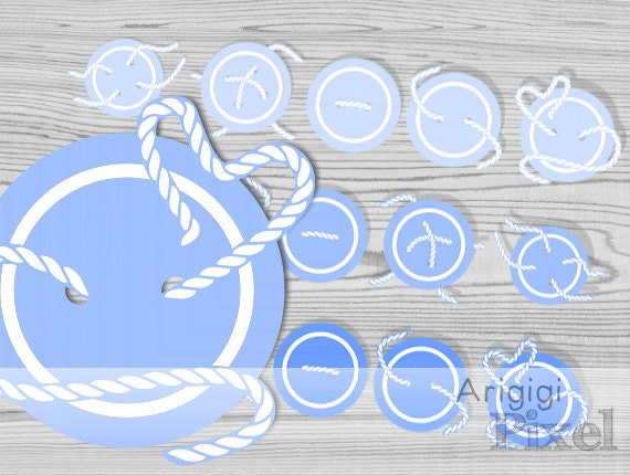 Blue Cute as a Button, baby blue buttons clip art set , Sewing Buttons with tread clipart, commercial use digital elements, instant download