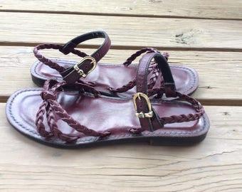 Vintage retro Etienne Aigner sandals size 7 rare