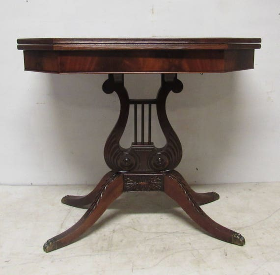 Flame Mahogany game table console table by Empire