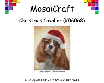 MosaiCraft Pixel Craft Mosaic Art Kit 'Christmas Cavalier' (Like Mini Mosaic and Paint by Numbers)