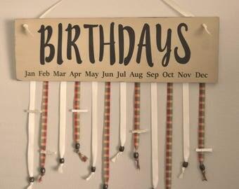 Birthday Board, Classroom Birthday Calendar, Birthday Organizer for Grandparents or Teachers