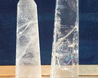 Clear Quartz Crystal Tower,4 sided free standing, Master Crystal,Healing Stone, Healing Crystal, Chakra  Stone, Spiritual Stone
