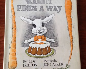 RABBIT FINDS a WAY  by Judy Delton Children's Book for Easter A Wonderful Story about Forest Animals Gently Told Excellent Condition Clean !