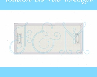 Rectangle Button On Tab Machine Embroidery Design