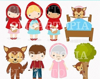 50% OFF SALE Little Red Digital Clipart For Personal And Commercial Use / INSTANT Download