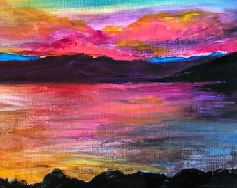 Beauly Firth sunset canvas.