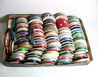 Ribbon, Large Destash Ribbon Lot, Thin Ribbon, All Colors, Large Lot