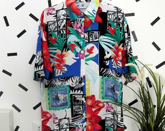 80's/ 90's Vintage Abstract Shirt size L