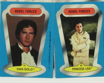 Star Wars, The Empire Strikes Back, 1980, Lot of 45 cards plus 2 sticker cards