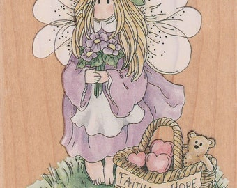 Linda Grayson Violet Fairy Rubber Mounted Stamp 70020 Stamps Happen New