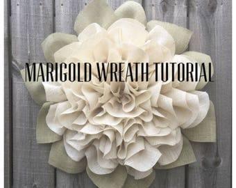 Marigold Wreath Tutorial, Marigold Wreath Video Tutorial, DIY Tutorial, Video Tutorial, Julies Wreath Boutique Tutorial, Wreath Tutorial