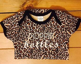 Sale, Poppin' bottles onesie, popping bottles onesie, funny onesie, cheetah print onesie,  baby shower gift, baby gift, baby girl onesie