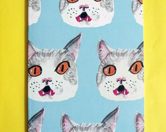 Kitty Pattern Notebook A5 Lined