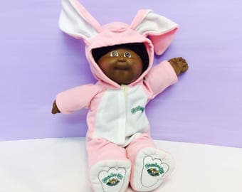 Vintage Cabbage Patch Kids, Bunny Costume, Cute Pink Bunny Outfit, CPK Offical Clothing, Doll Clothes, CPK Halloween Costume, 1980s Toys