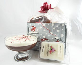 Peppermint Bark Pudding Candle & Wax Melt Gift Set