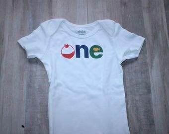 Fishing First Birthday Onesie or Shirt