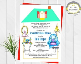 Around the House Bridal Shower Invitation | Pantry Shower Invitation | Bridal Shower Invitation | Printable