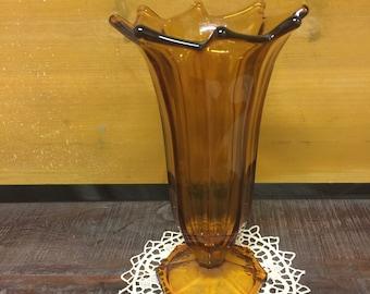 Amberglass Deco Vase