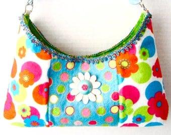 Bright Colors Floral Purse