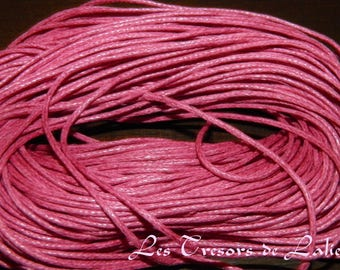hot pink waxed cotton cord 1 m