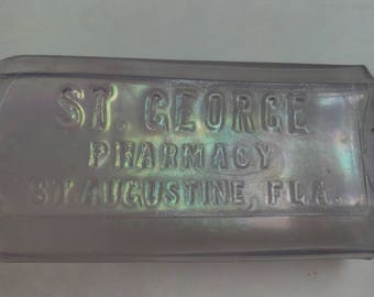 St Johns Pharmacy St Augustine Florida 1880 Medicine Bottle