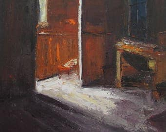Interior 12 oil Painting One of a kind Hand painted Artwork Impressionism Signed with Certificate of Authenticity