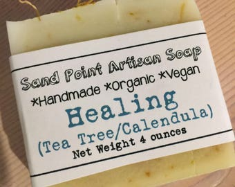 Tea Tree Calendula Organic Vegan Soap