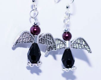 Angel Earrings with Silver accents