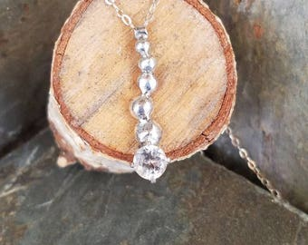 Rustic white topaz pendant white topaz pendant necklace curve necklace white topaz pendant rustic necklace one of a kind unique ooak topaz