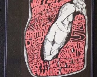 Original 1966 Jefferson Airplane Grateful Dead Graham Fillmore Postcard BG026