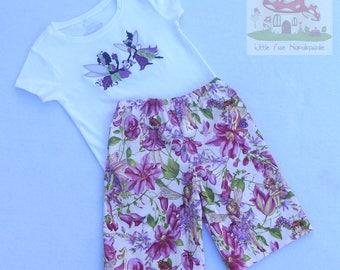 Magical fairy matching shorts and t-shirt set