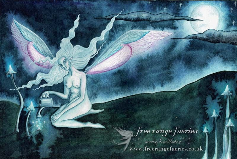 My first faerie art painting from 2004