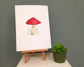 Red Mushroom - Watercolour Painting