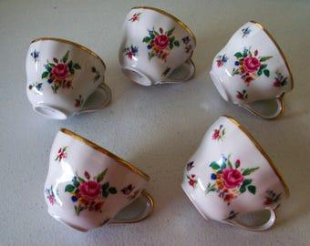 Winterling Bavaria Dresden Set Of 5 Tea Cups