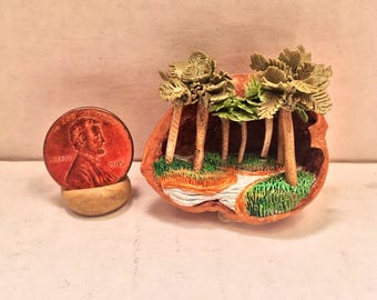 Marsh Diorama in a Walnut Shell