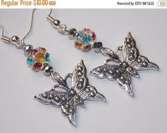 15%OFF Rainbow Butterfly Earrings