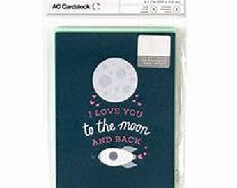 """American Crafts """"I Love You To The Moon & Back"""" Cards"""