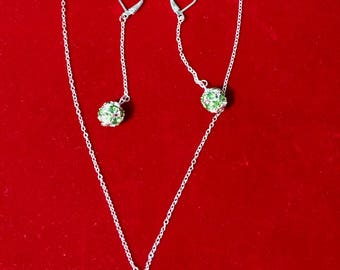 Crystal Sets - Green/White