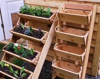 "Ends Thursday New 24"" vertical gardening urban farmer raised elevated planting system vegetables garden planter kit cedar planter herb"