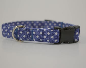 Blue Polka Dot Collar