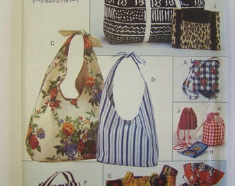HTF Vintage 1990s Butterick 3925  HANDBAGS and TOTES Pattern UNcut