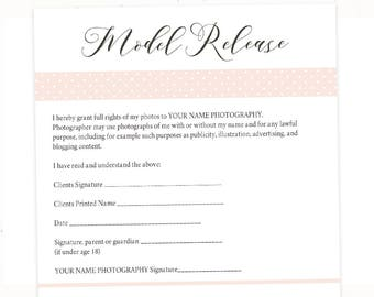 Photography Model Release Form Template, Photography Template, Photography  Contract, Photo Release Form,