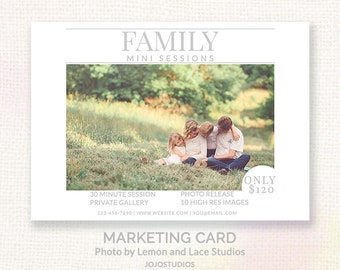 Family Mini Session For Photographers - Modern Clean Design - Instant Download Marketing Template - Layered PSD cb128