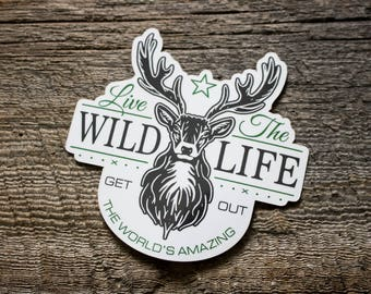 2 Sticker Pack - Live The Wild Life