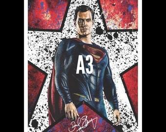 A3 Justice League Movie Art Print! Superman - Henry Cavill