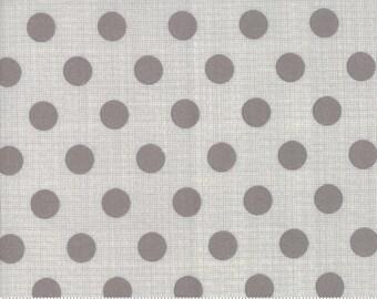 Jen Kingwell Circulus Tiny Plaid Polka Dot Stone Grey Fabric 18131-27 BTY